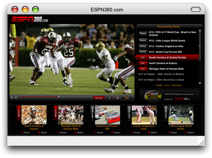 ESPN360 Interface