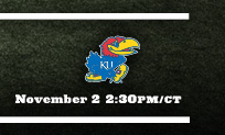 vs Kansas November 2 2:30pm/ct