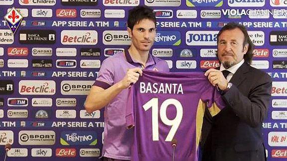 Jos� Basanta, feliz de estar en Fiorentina