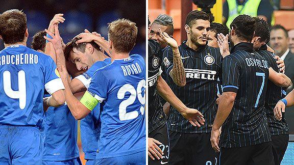 Inter juega en Ucrania