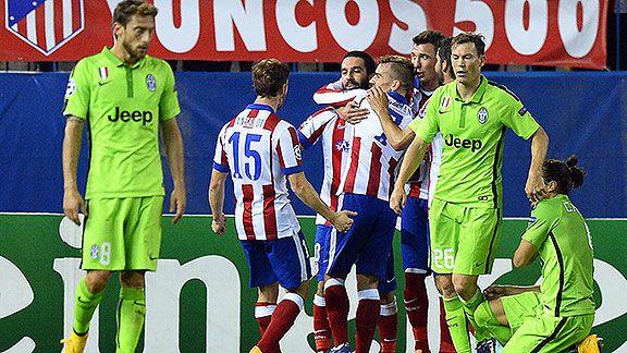 Juve perdi� 1-0 con A. Madrid