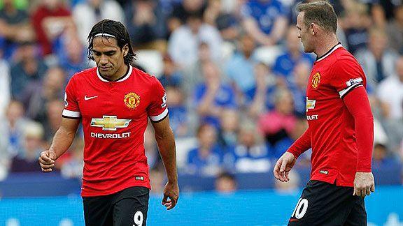 Falcao se pierde el derbi, Rooney lo juega