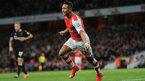 Alexis, el que m�s camisetas vende en Arsenal