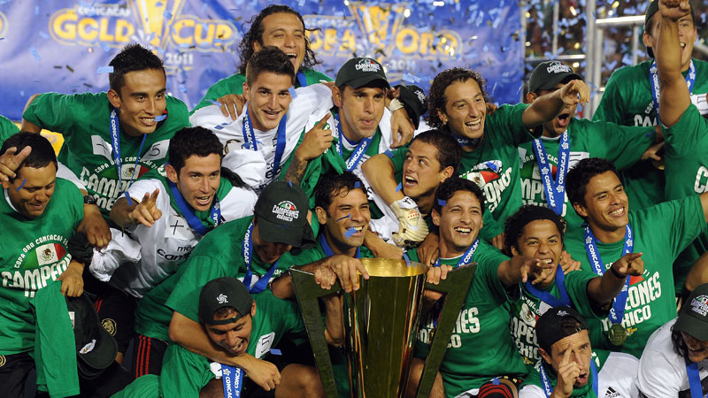 Mexico celebrate their dramatic Gold Cup triumph