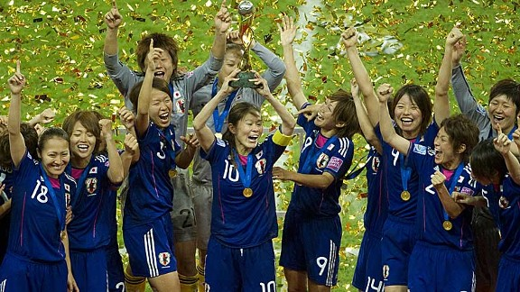 Top of the world: After a chilling year for their home country, Japan are Women's champions of the world