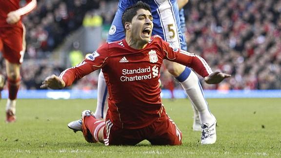Luis Suarez foul