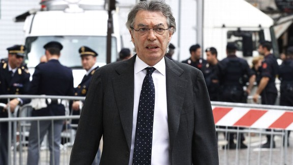Massimo Moratti has landed in hot water after speaking out against refereeing decisions against Inter Milan