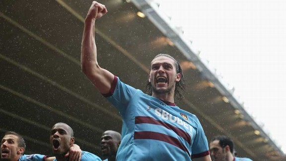 Andy Carroll celebrates