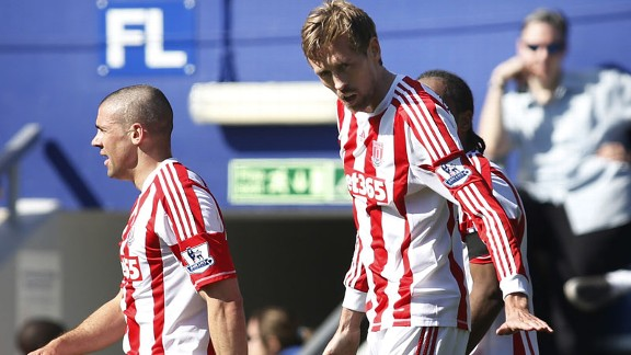 Peter Crouch scored for Stoke against QPR
