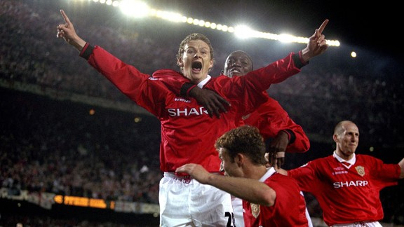 Ole Gunnar Solskjaer scored the goal that gave Manchester United the Champions League in 1999