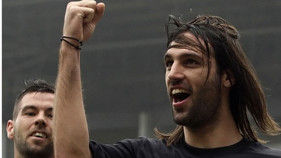 Georgios Samaras scored to put Celtic two goals up against Dundee United