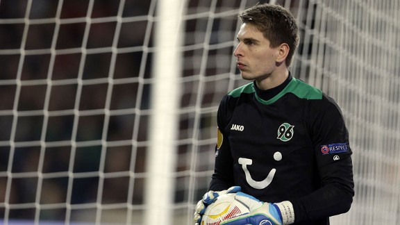 Ron-Robert Zieler has two international caps for Germany