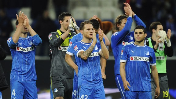 Hoffenheim savour their victory over Kaiserslautern