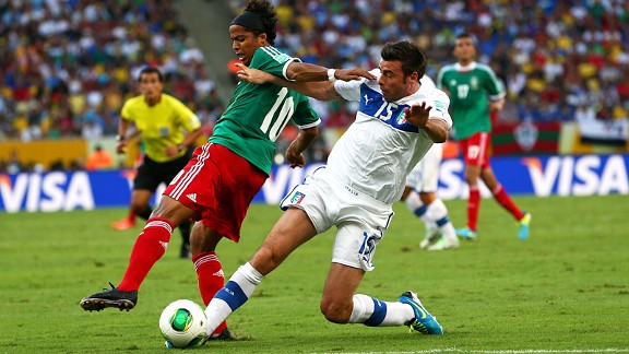 Mexico's Giovani dos Santos had an excellent game against Italy and needs to do the same against Brazil