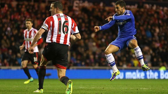 Eden Hazard second goal Sunderland vs. Chelsea
