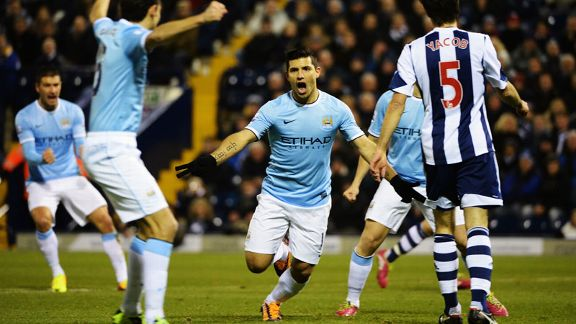 Sergio Aguero celeb Man City vs. West Brom