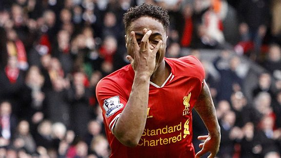 Raheem Sterling fifth goal Liverpool celeb Arsenal