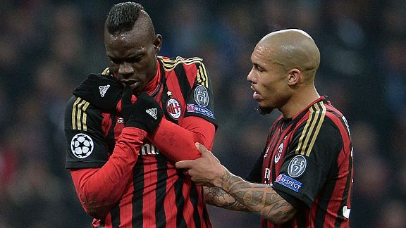 Mario Balotelli suffered a shoulder injury against Atletico Madrid.