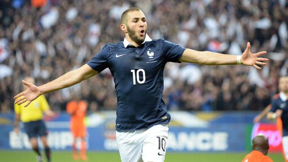 Karim Benzema solo celeb France vs Netherlands