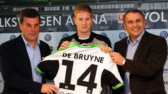 Kevin De Bruyne eventually signed for Wolfsburg in January after a frustrating first half of the season at Chelsea.