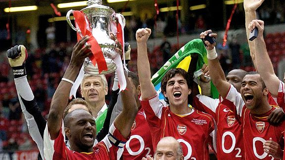 Arsenal's last piece of silverware came in the FA Cup at the Millennium Stadium in 2005.