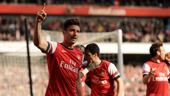 Olivier Giroud first goal celeb Arsenal Everton