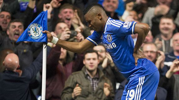 Samuel Eto'o mocks suggestions he is older than his 32 years after scoring against Spurs.