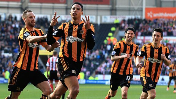 Curtis Davies scored for the third successive game when heading Hull City into the lead against Sunderland.