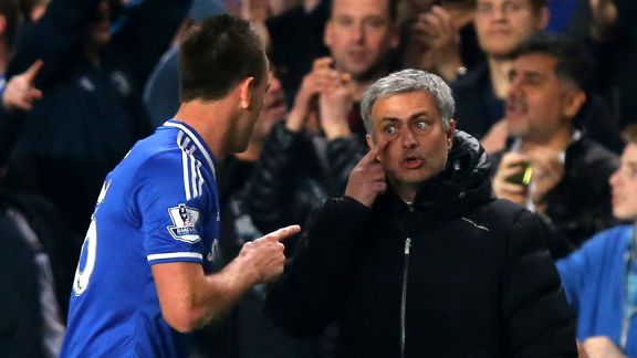 Jose Mourinho John Terry eye point Chelsea