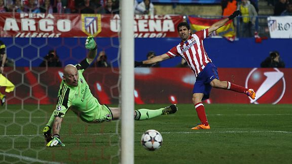 Diego Costa puts the icing on the cake with Atletico's fourth against Milan.