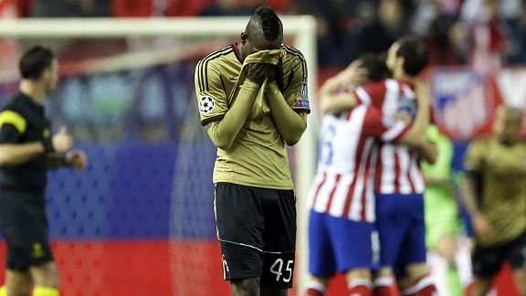 Mario Balotelli's bad night only continued to get worse as Milan were thrashed in Madrid.