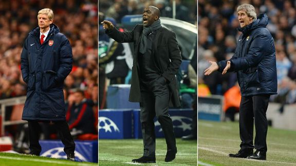 USE THIS Arsene Wenger, Clarence Seedorf and Manuel pellegrini UCl