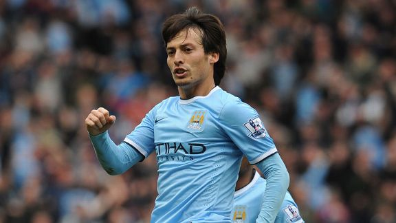 David Silva celeb Hull Man City