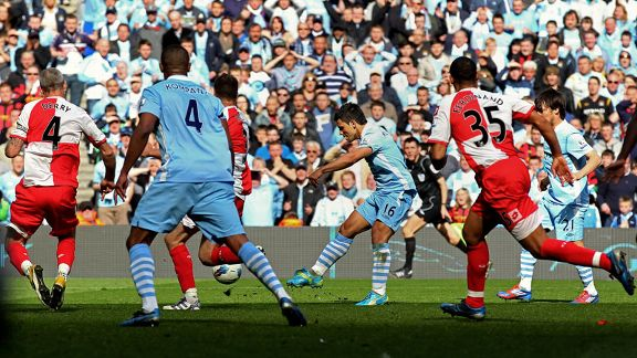Sergio Aguero goal Man City vs QPR