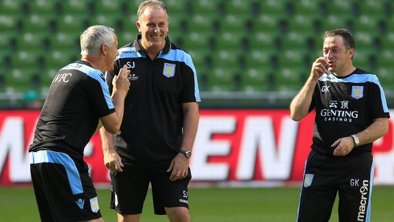 Ian Culverhouse and Karsa Aston Villa training