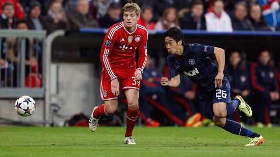 Toni Kroos and Shinji Kagawa Manchester United vs Bayern Munich