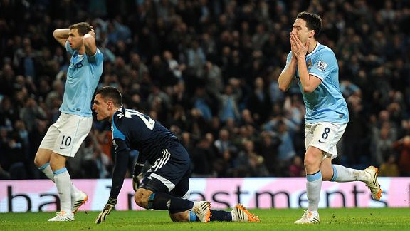 Samir Nasri rues a late missed chance in the 2-2 draw with Sunderland.
