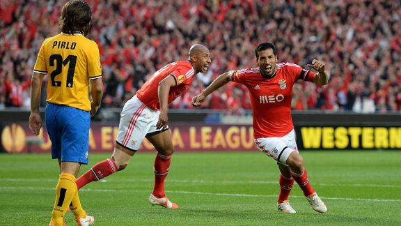 Ezequiel Garay alternative celeb Benfica vs Juventus