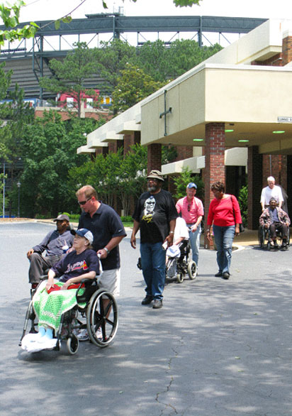 Wheelchair parade