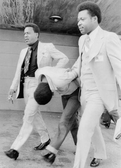 Leonard Smith with police