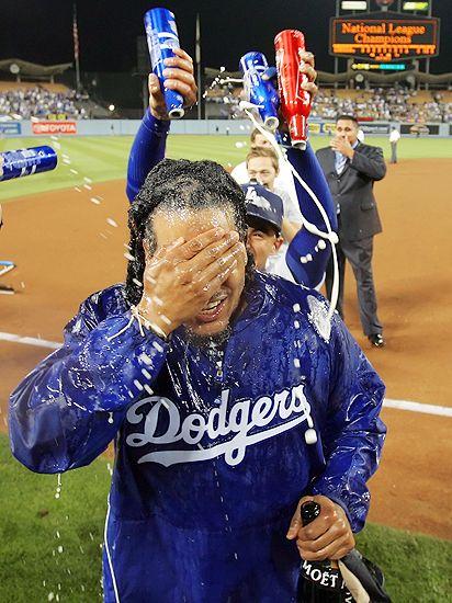 Manny celebrates