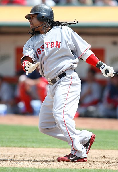 Manny Ramirez hitting