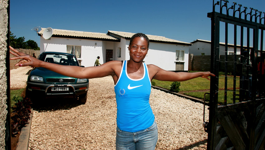 Esther Phiri's home
