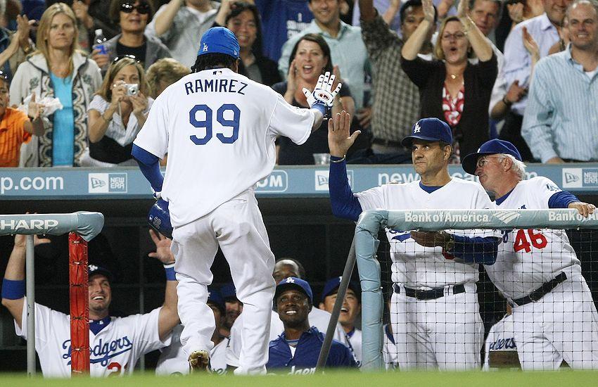 Manny Ramirez, Dodgers dugout