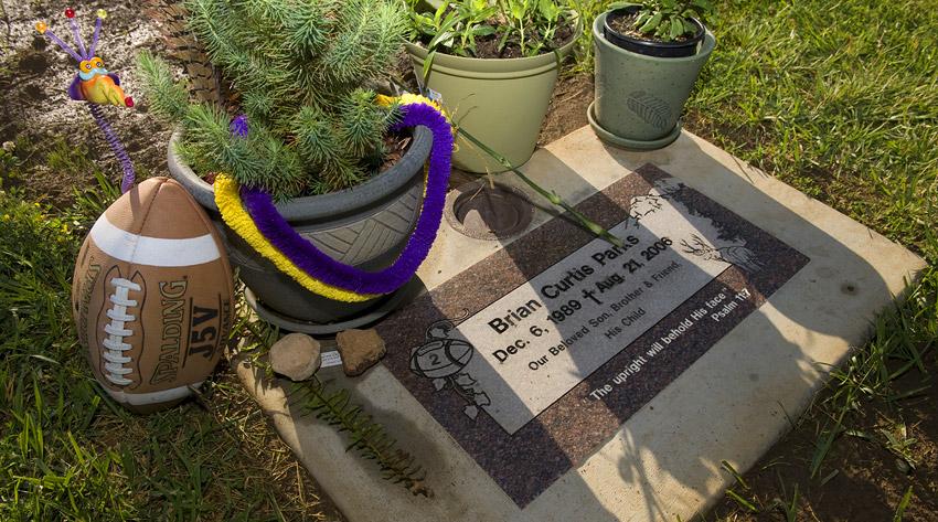 Brian Parks' grave