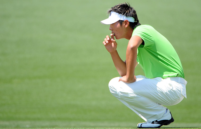 Danny Lee during first round at the Masters