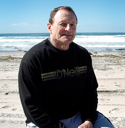 Ed Hochuli on beach