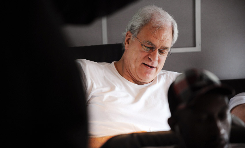 Phil Jackson on the plane