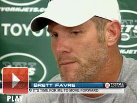 Favre moves forward