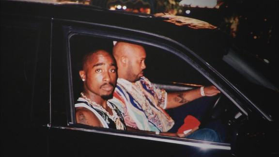 Controversial rapper and Tyson supporter Tupac Shakur is brutally gunned